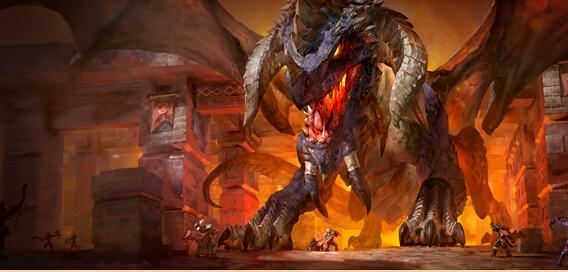臭名昭著的死亡之翼之子,黑龙奈法利安,已经将黑石山的顶部牢牢控制在黑龙军团的手里。这条残酷而狡诈的黑龙建造了黑翼之巢作为黑龙军团的大本营,并在其中进行各种恐怖的实验。于是在这里,他一手创造了一支多彩龙人大军,用以对抗潜伏在黑石山底部的拉格纳罗斯及其炽热的元素随从们。   深入邪恶之巢   如果你以为地精们只会摆弄生锈的伐木机,那你就错了。在黑翼之巢中,这些绿皮肤的小个子技师们喜欢在龙身上做实验,他们能够运用有机化学将不稳定的龙血混合物变成增强他们实力的武器。如果你看到了一个面色阴沉的黑翼技师,那就