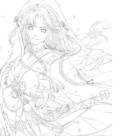 《奇迹暖暖》雪姬手绘图套装欣赏